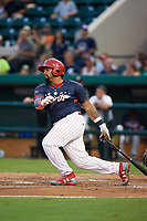 Clearwater Threshers shortstop Drew Stankiewicz (4) at bat during the Florida State League All-Star Game on June 17, 2017 at Joker Marchant Stadium in Lakeland, Florida.  FSL North All-Stars  defeated the FSL South All-Stars  5-2.  (Mike Janes/Four Seam Images)
