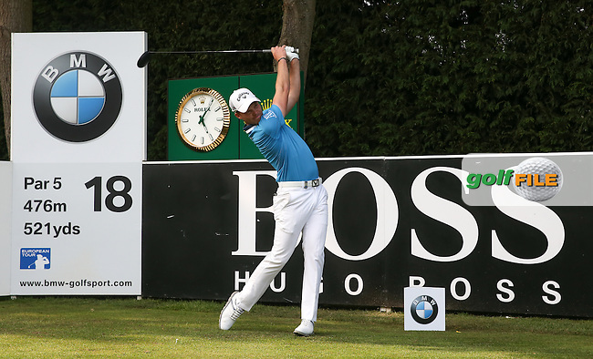 Danny Willett (ENG) during Round Three of the 2016 BMW PGA Championship over the West Course at Wentworth, Virginia Water, London. 28/05/2016. Picture: Golffile   David Lloyd. <br /> <br /> All photo usage must display a mandatory copyright credit to &copy; Golffile   David Lloyd.