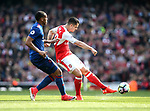 Arsenal's Granit Xhaka scoring his sides opening goal during the Premier League match at the Emirates Stadium, London. Picture date: May 7th, 2017. Pic credit should read: David Klein/Sportimage