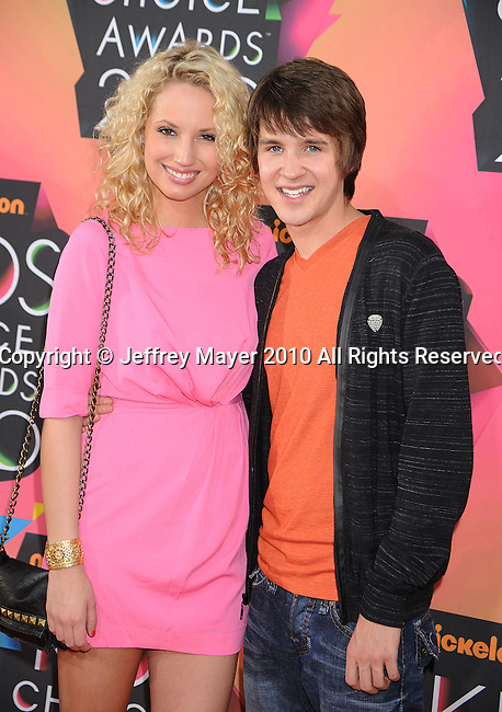 LOS ANGELES, CA. - March 27: Molly McCook and Devon Werkheiser arrive at Nickelodeon's 23rd Annual Kid's Choice Awards at Pauley Pavilion on March 27, 2010 in Los Angeles, California.