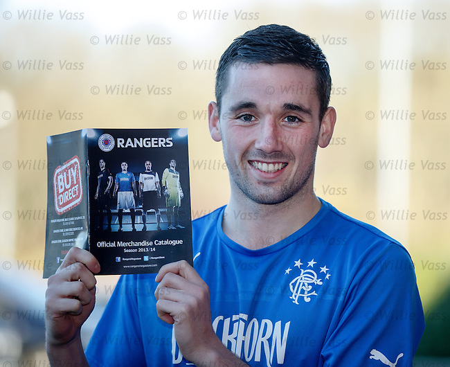 Nicky Clark picking out his presents from the Rangers official merchandise catalogue