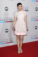 LOS ANGELES, CA - NOVEMBER 18: Ginnifer Goodwin at the 40th American Music Awards held at Nokia Theatre L.A. Live on November 18, 2012 in Los Angeles, California. Credit: mpi20/MediaPunch Inc. NortePhoto
