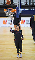 Charlisse Leger-Walker warms up for the 2019 Schick AA Girls' Secondary Schools Basketball Premiership National Championship final between St Peters School Cambridge and Hamilton Girls' High School at the Central Energy Trust Arena in Palmerston North, New Zealand on Saturday, 5 October 2019. Photo: Dave Lintott / lintottphoto.co.nz