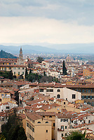 Florence, viewed from Piazzale Michelangelo, Tuscany, Italy