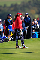 Lizette Salas Team USA on the 7th green during Day 1 Fourball at the Solheim Cup 2019, Gleneagles Golf CLub, Auchterarder, Perthshire, Scotland. 13/09/2019.<br /> Picture Thos Caffrey / Golffile.ie<br /> <br /> All photo usage must carry mandatory copyright credit (© Golffile | Thos Caffrey)