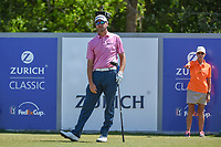 Sean O'Hair (USA) watches his tee shot on 18 during Round 2 of the Zurich Classic of New Orl, TPC Louisiana, Avondale, Louisiana, USA. 4/27/2018.<br /> Picture: Golffile | Ken Murray<br /> <br /> <br /> All photo usage must carry mandatory copyright credit (&copy; Golffile | Ken Murray)
