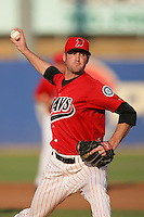 September 7 2009:  Jake Wild of the High Desert Mavericks during game against the Modesto Nuts at Maverick Stadium in Adelanto,CA.  Photo by Larry Goren/Four Seam Images