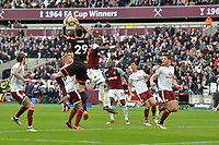 Nick Pope of Burnley catches a cross during West Ham United vs Burnley, Premier League Football at The London Stadium on 10th March 2018