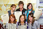 PROGRAMME: Colaiste na Scellig students receiving their awards at the Young Entrepreneur Programme Awards Ceremony held in the Malton Hotel, on Friday front l-r: Charlotte Sharpe, Annette Donnelly and Tara Dennehy. Back l-r: Sinead O'Sullivan, Graham Dundon and Katie Moriarty.   Copyright Kerry's Eye 2008