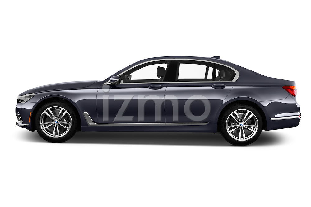 Car Driver side profile view of a 2017 BMW 7 Series 740i 4 Door Sedan Side View