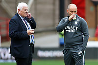 Preston North End manager Alex Neil (right) inspects the surroundings of The City Ground before kick off<br /> <br /> Photographer David Shipman/CameraSport<br /> <br /> The EFL Sky Bet Championship - Nottingham Forest v Preston North End - Saturday 31st August 2019 - The City Ground - Nottingham<br /> <br /> World Copyright © 2019 CameraSport. All rights reserved. 43 Linden Ave. Countesthorpe. Leicester. England. LE8 5PG - Tel: +44 (0) 116 277 4147 - admin@camerasport.com - www.camerasport.com