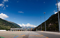 The toll station in Rivoli on the A32 motorway (Italy, 21/06/2010)