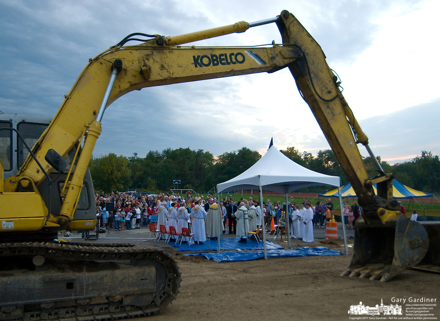 Ground breaking for a new Catholic church in Westerville, Ohio.