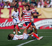 Tobin Heath, Gabriela Guillen.  The USWNT defeated Costa Rica, 8-0, during a friendly match at Sahlen's Stadium in Rochester, NY.