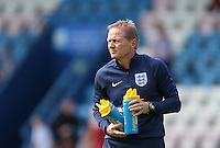 England Head Coach Keith Downing takes charge of his first match during the International match between England U19 and Netherlands U19 at New Bucks Head, Telford, England on 1 September 2016. Photo by Andy Rowland.