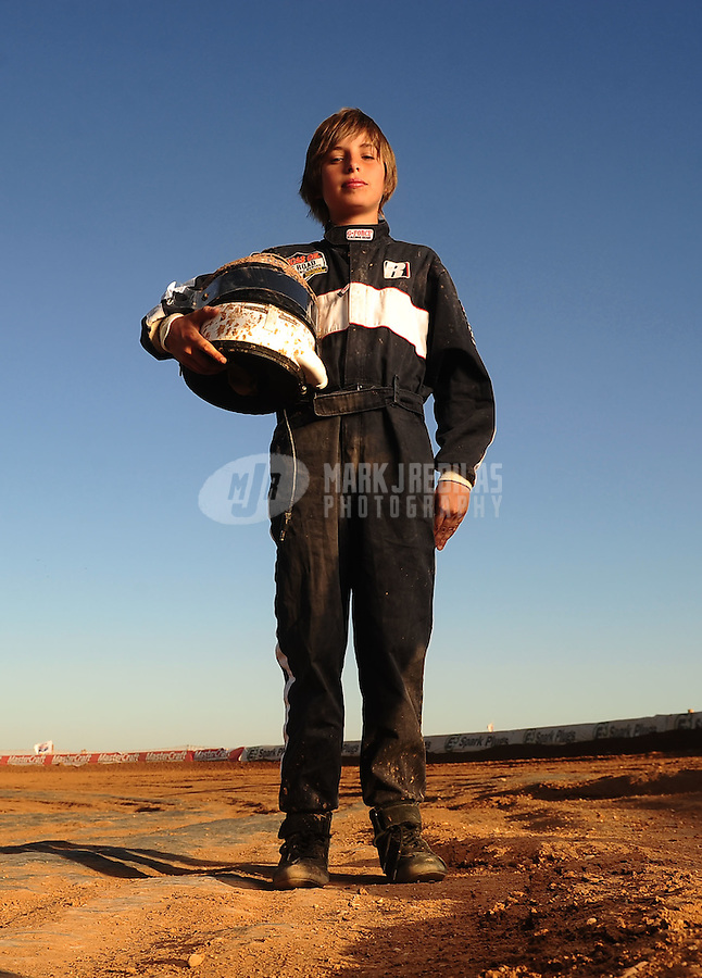 Apr 17, 2011; Surprise, AZ USA; LOORRS driver Parker Porter poses for a portrait following round 4 at Speedworld Off Road Park. Mandatory Credit: Mark J. Rebilas-