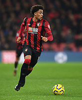 23rd November 2019; Vitality Stadium, Bournemouth, Dorset, England; English Premier League Football, Bournemouth Athletic versus Wolverhampton Wanderers; Arnaut Danjuma of Bournemouth brings the ball forward - Strictly Editorial Use Only. No use with unauthorized audio, video, data, fixture lists, club/league logos or 'live' services. Online in-match use limited to 120 images, no video emulation. No use in betting, games or single club/league/player publications