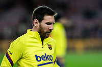 30th January 2020; Camp Nou, Barcelona, Catalonia, Spain; Copa Del Rey Football, Barcelona versus Leganes; Lionel Messi of FC Barcelona during warm up