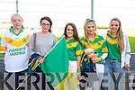 Saoirse Sheehy, Clodagh Walsh, Kristen Kern, Marian Nolan, Eilish Harrington at the Senior County Hurling final, Lixnaw V Kilmoyley at Austin Stack Park on Sunday