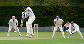 Scottish National Cricket League - Premier Div - Uddingston CC V Aberdeenshire at Bothwell Policies, Uddingston - Aberdeenshire's Chris Tomlinson rises to defend the ball in front of the Uddy slip cordon - Picture by Donald MacLeod 24.07.10 - mobile 07702 319 738 - clanmacleod@btinternet.com