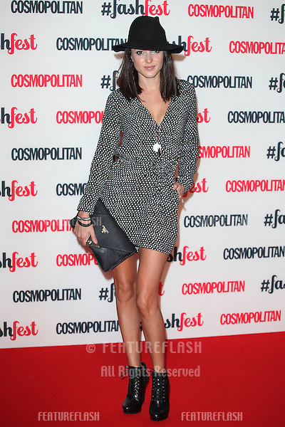 Karen Hassan arriving for the Cosmopolitan Fashfest, at Battersea Evolution, London. 18/09/2014 Picture by: Alexandra Glen / Featureflash