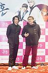 Shun Oguri and Yuichi Fukuda, Dec 6, 2017 : Japanese actor Shun Oguri (L) and film director Yuichi Fukuda attend a press conference for their movie 'Gintama' in Seoul, South Korea. (Photo by Lee Jae-Won/AFLO) (SOUTH KOREA)