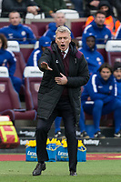 West Ham United Manager David Moyes during the Premier League match between West Ham United and Chelsea at the Olympic Park, London, England on 9 December 2017. Photo by Andy Rowland.