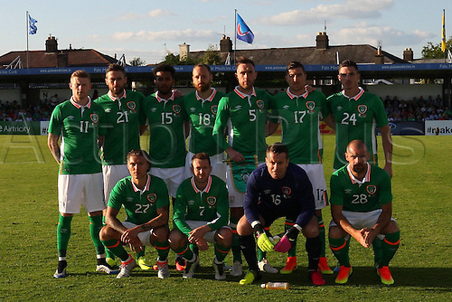 31.05.2016, Turners Cross Stadium, Cork, Ireland. International football friendly between republic of ireland and Belarus.  Republic of Ireland Team Photo