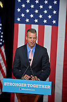 WILTON MANORS, FL - OCTOBER 30: Mayor of Broward County Martin David Kiar speak before the Democratic presidential nominee former Secretary of State Hillary Clinton speaks during a LBGT community in Unity Rally and Concert campaign event at The Manor Complex on October 30, 2016 in Wilton Manors, Florida. With less than nine day to go until election day, Hillary Clinton continues to campaign in Florida and other battleground states. Credit: MPI10 / MediaPunch