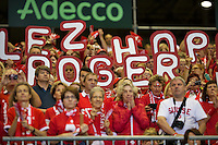 Switserland, Genève, September 20, 2015, Tennis,   Davis Cup, Switserland-Netherlands, Support for Federer<br /> Photo: Tennisimages/Henk Koster