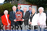 Michael Kerins receives the 'Hall of Fame Plaque' from chairman of the Kingdom County Fair at the launch of this year's fair in the Meadowlands hotel, Tralee,on Wednesday, pictured l-r: Bridie O'Connell (president), Michael Kerins, Jim Kelly (treasurer), Robert Groves (chairman), Michael Brady (PRO) and Mary Barry (secretary) and Celine Slattery.