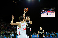 New Zealand Tall Blacks&rsquo; Reuben Rangi in action during the FIBA World Cup Basketball Qualifier - NZ Tall Blacks v China at Spark Arena, Auckland, New Zealand on Sunday 1 July 2018.<br /> Photo by Masanori Udagawa. <br /> www.photowellington.photoshelter.com