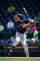 Charlotte Stone Crabs left fielder Nathan Lukes (4) at bat during a game against the Bradenton Marauders on April 9, 2017 at LECOM Park in Bradenton, Florida.  Bradenton defeated Charlotte 5-0.  (Mike Janes/Four Seam Images)
