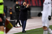 Eusebio Di Francesco of AS Roma reacts during the Serie A 2018/2019 football match between AS Roma and AC Milan at stadio Olimpico, Roma, February 3, 2019 <br />  Foto Andrea Staccioli / Insidefoto