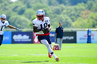 July 28, 2017: New England Patriots wide receiver Matthew Slater (18) makes a catch at the New England Patriots training camp held at Gillette Stadium, in Foxborough, Massachusetts. Eric Canha/CSM