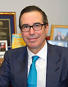 Steven Mnuchin, United States President-elect Donald J. Trump's selection to be US Secretary of the Treasury during his meeting with US Senator Chuck Grassley (Republican of Iowa) in his Capitol Hill office in Washington, DC on Thursday, December 8, 2016.<br /> Credit: Ron Sachs / CNP