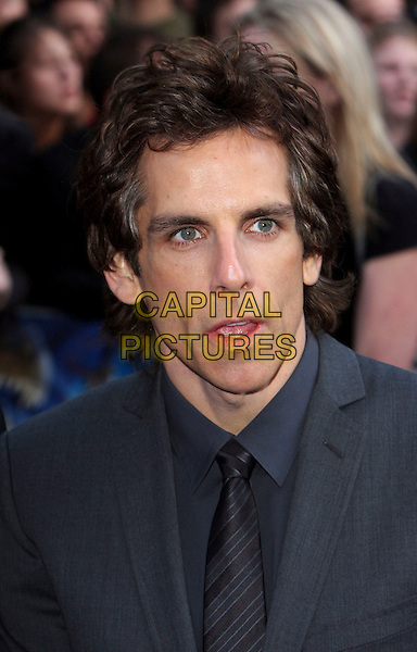 "BEN STILLER .UK Premiere of ""Night At The Museum 2"" at the Empire Cinema, Leicester Square, London, England, UK, May 12th 2009.portrait headshot black grey gray shirt tie .CAP/ROS.©Steve Ross/Capital Pictures"