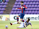 Real Valladolid's Michel Herrero (r) and Levante UD's Victor Casadesus during La Liga Second Division match. March 11,2017. (ALTERPHOTOS/Acero)
