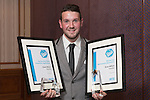 17/07/2015 The IRTE Skills Challenge 2015 prize-giving takes place at The National Motorcycle Museum, Birmingham. Evan Wilton of Translink with his awards.
