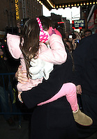 NEW YORK, NY - JANUARY 2: Katie Holmes and Suri Cruise leaving her Broadway play Dead Accounts at the Music Box in New York City. January 2, 2013. Credit: RW/MediaPunch Inc.