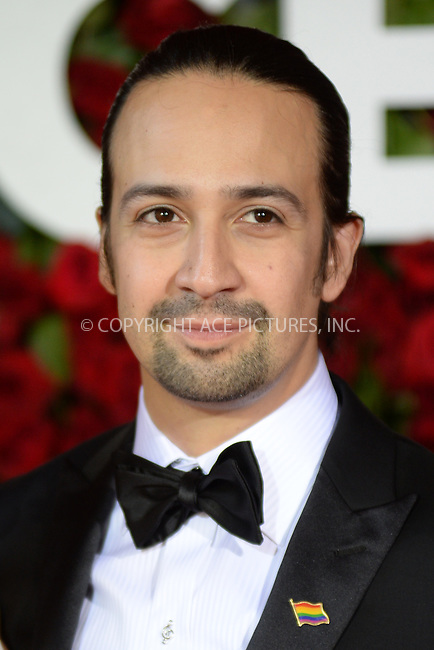 www.acepixs.com<br /> June 12, 2016  New York City<br /> <br /> Lin-Manuel Miranda attending the 70th Annual Tony Awards at The Beacon Theatre on June 12, 2016 in New York City.<br /> <br /> Credit: Kristin Callahan/ACE Pictures<br /> <br /> <br /> Tel: 646 769 0430<br /> Email: info@acepixs.com