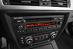 Stereo audio system close up detail view of a 2008 BMW M3 Convertible