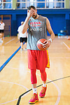 Pablo Aguilar during the training of Spanish National Team of Basketball. August 06, 2019. (ALTERPHOTOS/Francis González)