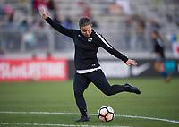 Boyds, MD - Saturday September 30, 2017: Christine Nairn during a regular season National Women's Soccer League (NWSL) match between the Washington Spirit and the Seattle Reign FC at Maureen Hendricks Field, Maryland SoccerPlex.