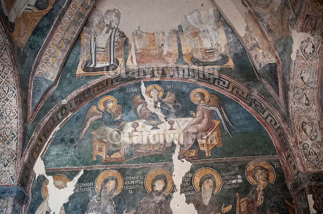 Djurdjevi Stupovi monastery near Novi Pazer..Djurdjevi Stupovi Manastir..(English: The Tracts of Saint George, often incorrectly translated as The Pillars of Saint George) is a 12th-century Eastern Orthodox monastery located in the vicinity of today's city of Novi Pazar, in the Ra?ka region of Serbia. The church was erected by the Grand Prince of Rascia, Stefan Nemanja, back in 1166, on the spot where the Serbian medieval capital of Ras once stood. It is currently undergoing reconstruction and renovation. Djurdjevi  stupovi have entered a UNESCO list together with the complex of Stari Ras and Sopocani...--Novi Pazar--Olga Pleshkova, Miloje, Zica.