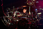 Ray Luzier of Korn performs during the 2013 Rock On The Range festival at Columbus Crew Stadium in Columbus, Ohio.