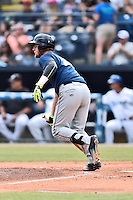 Columbia Fireflies right fielder Jeff Diehl (24) swings at a pitch during a game against the Asheville Tourists at McCormick Field on June 17, 2016 in Asheville, North Carolina. The Tourists defeated the Fireflies 6-2. (Tony Farlow/Four Seam Images)