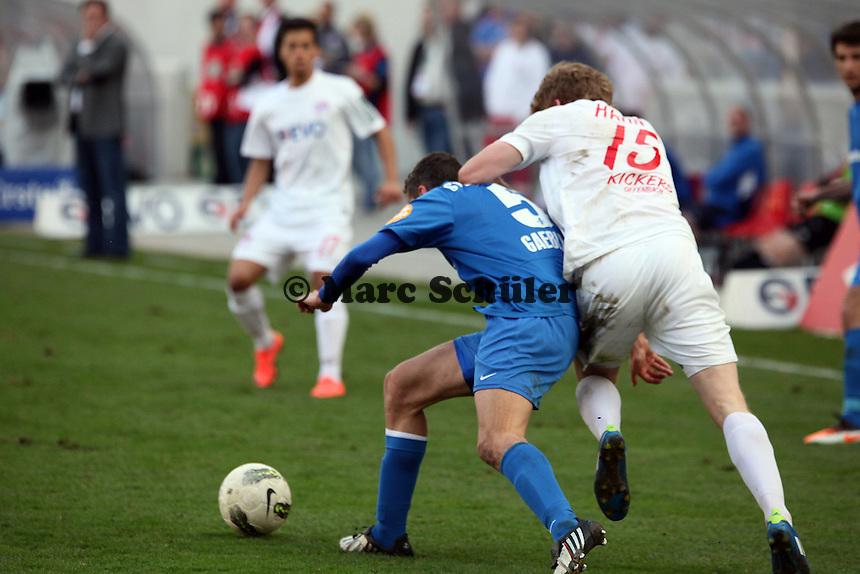 Andre Hahn (OFC) gegen Andreas Gaebler (Darmstadt)