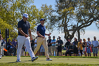 Patrick Reed (USA) and Rory McIlroy (NIR) head down 7 during round 1 of the Arnold Palmer Invitational at Bay Hill Golf Club, Bay Hill, Florida. 3/7/2019.<br /> Picture: Golffile | Ken Murray<br /> <br /> <br /> All photo usage must carry mandatory copyright credit (&copy; Golffile | Ken Murray)