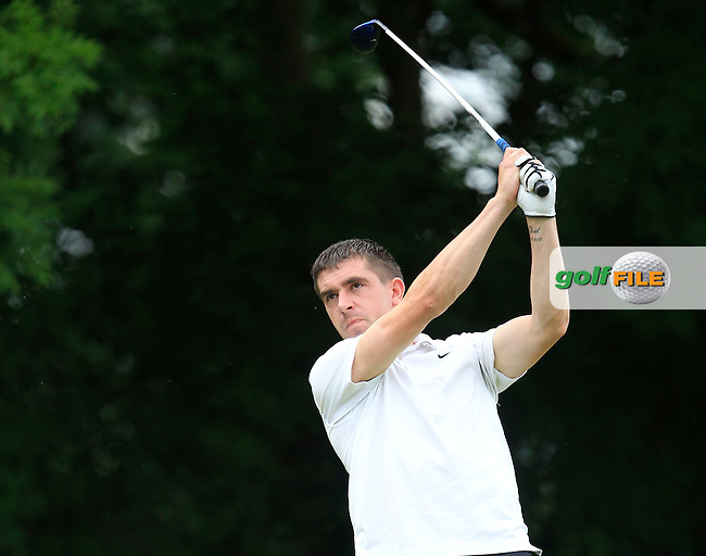 Jonathan Ryan (Ballykisteen) on the 10th tee during the Final round of the Munster section of the AIG Pierce Purcell Shield at East Clare Golf Club on Sunday 19th July 2015.<br /> Picture:  Golffile | Thos Caffrey